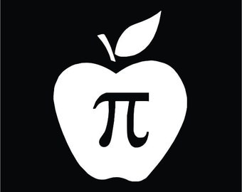 Apple Pi Funny Vinyl Decal / Sticker 2(TWO) Pack