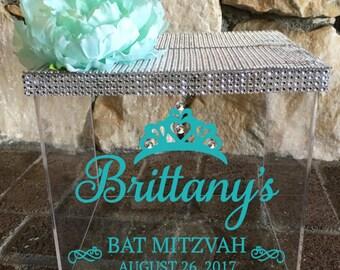 Bat Mitzvah Card Box, Money Box, Quinceanera Gift Card Box, Sweet 16 Gift Card Box, Bat Mitzvah, Gift Card box