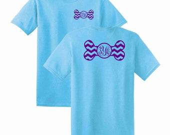 Dog Bone Chevron Monogrammed T-shirt