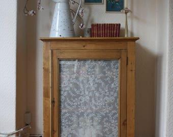Lovely Vintage Pine Cupboard with Glazed Door