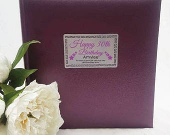Personalised Pink/Blue Birthday Album -  200 Photo - Free Shipping