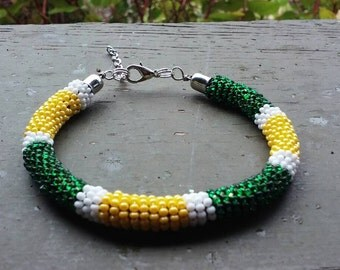 Oregon beaded rope bracelet