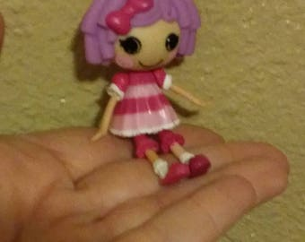 Lala Loopsy Miniature Doll upcycled into necklace charm 3 inches movable parts