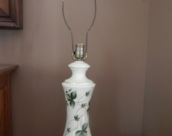 Vintage Mid Century Modern hand painted ceramic table lamp