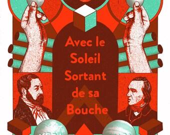 Avec le Soleil Sortant de sa Bouche screen printed Gig poster // Concert poster // live at Vera Groningen 2017