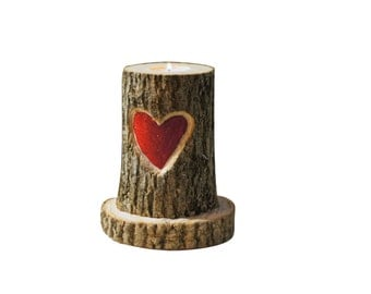 Heart Candle Holder - Gifts for Her - Girlfriend Gift - Womens Gift - Wife Gift - Rustic Home Decor - Rustic Gifts - Gifts under 25 - Gifts