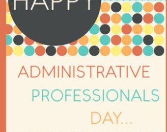 Admin Professional Day Greeting Card, Card for Her, Card for Him