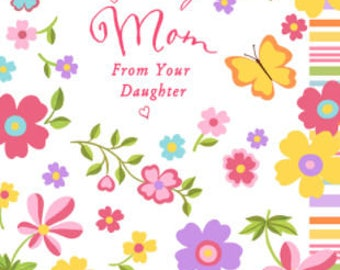 Happy Mother's Day Card, Greeting Card, Card for Mom, Mother's Day Gift, Mom Gift, Wonderful Mom, Gift for mom, Daughter to Mother gift