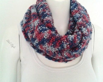 Scarf tube heater-neck scarf neck woman knitting handmade multicolored, gift idea mother.