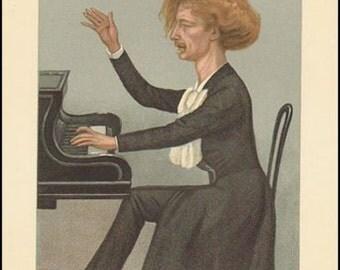 Vanity Fair Print / Lithograph : Ignance Paderewski 1899