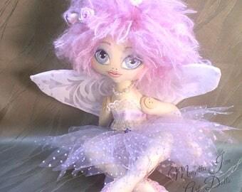 FAIRY doll, Art doll EOLANDE Cloth doll, Original handmade doll, romantic,FAIRYLAND, magical,fantasy, keepsake heirloom fairy