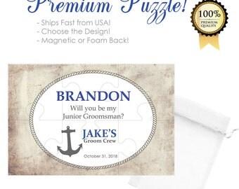 Junior Groomsman Gift- JR Groomsmen Gift- Junior Groomsmen Gift- Junior Groomsman Proposal Puzzle- Jr Groomsman Gift- Wedding Proposal