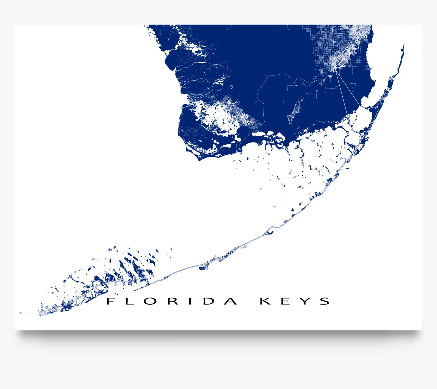 This is an image of Wild Printable Map of Florida Keys
