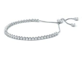 delicate Cz tennis bracelet, Bridesmaid tennis bracelet, cubic zirconia bracelet, bridal bracelet, Wedding Bracelet, Diamond Bracelet