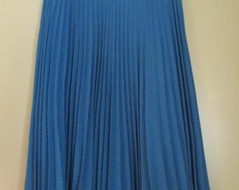 Gonna plissè anni 60.Color cielo.Crespo di lana.Tg 40/60s plissè skirt/Woollen crepe/Blue sky/Boogie hoogie skirt/Swinging skirt/Size 4