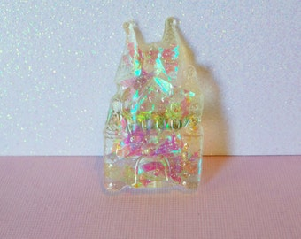 Pastel Holographic Castle Resin Brooch