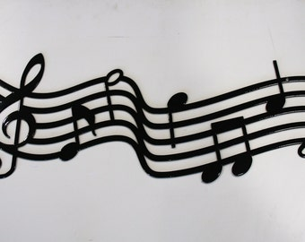 Large Metal Music Staff Wall Art, music gift, music decor, music room sign, music room art, musical art, gift for musician, back to school