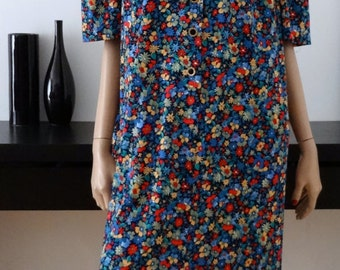 robe vintage fleurie taille 50 - uk 22 - us 18