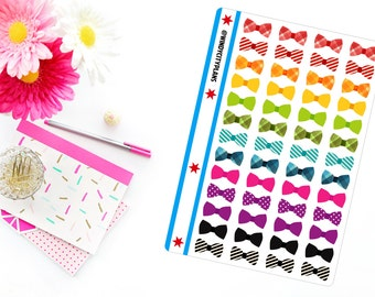 Bow(ties) are Cool!  Stickers for your planner ~ Erin Condren, Filofax, Plum Paper and Scrapbooks, too!