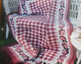 Gingham Roses, Annie's Attic, Pattern Leaflet #2206-01, 1994