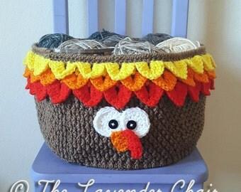 Turkey Yarn Basket Crochet Pattern *PDF FILE DOWNLOAD* Instant Download
