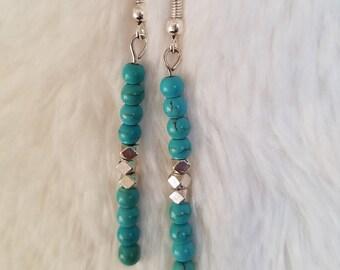 Turquoise earrings, Simple earrings