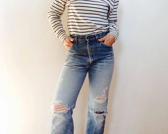 French striped shirt french shirt nautical shirt sailor shirt blue and white striped shirt vintage striped shirt french striped turtleneck