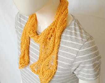 Cotton scarf, summer scarf, ladies scarf, gift for her, mothers day gift, skinny scarf, vegan scarf