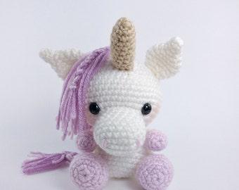 PATTERN: Crochet unicorn pattern - amigurumi unicorn pattern - stuffed toy animal tutorial - PDF crochet pattern