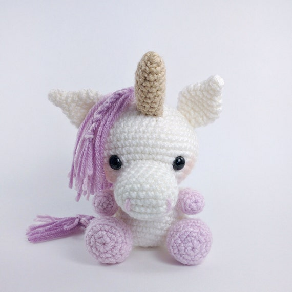 Crochet Unicorn Doll : : Crochet unicorn pattern - amigurumi unicorn pattern - stuffed toy ...
