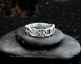 celtic ring celtic knot ring sterling silver trinity knot ring braided ring - Viking Wedding Rings