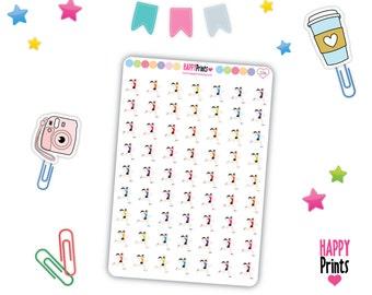 HP 226) -- Runner Stickers, Girl Runner Stickers, Female runner Stickers, Planner Stickers