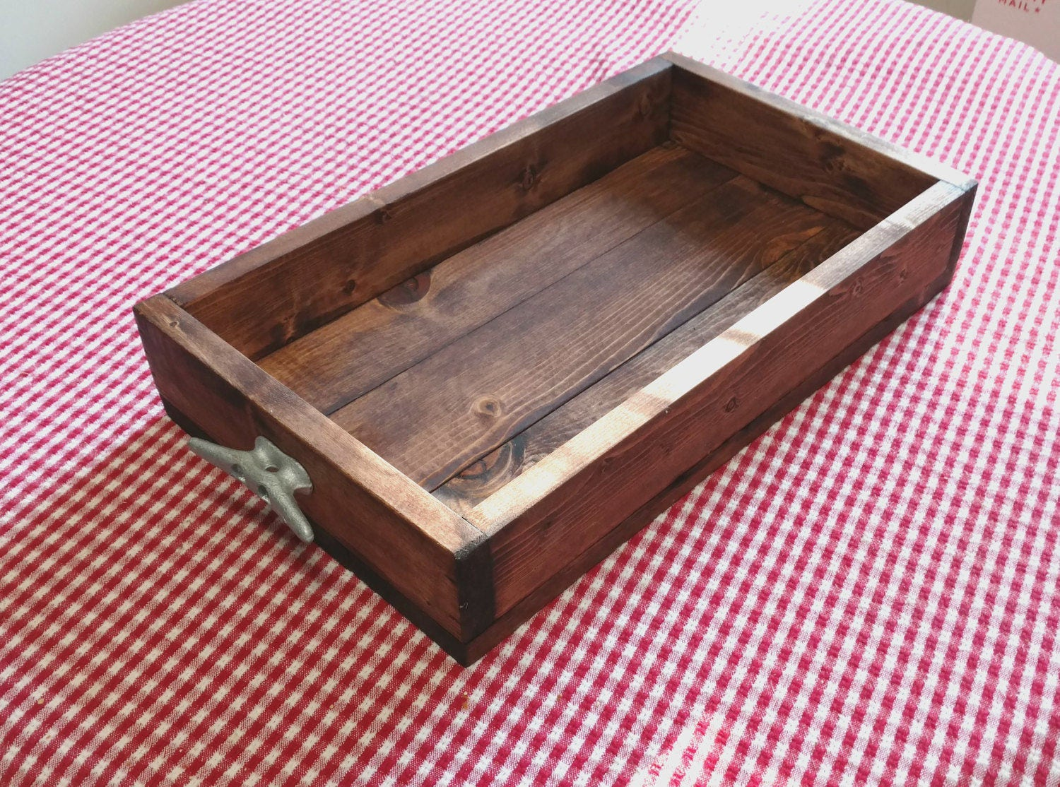 Rustic wood tray coffee table box serving tray wedding decor Decorative trays for coffee table