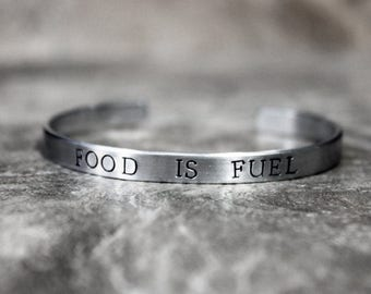 Food is Fuel bracelet, Health and Fitness, ED Recovery, Nutrition Inspiration, Eating Disorder Ana Recovery, You can do this, Healthy Living