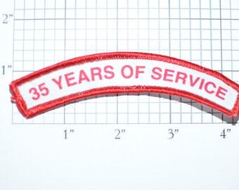 35 Years of Service Uniform Rocker Patch Shirt Patch Jacket Patch Vest Patch Employee Recognition Loyalty Award Sewing Applique e19v