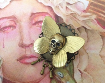 PIN Butterfly death's-head sphinx