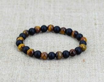 Gemstone bead bracelet Men jewelry men birthday gift-for-him Tribal jewelry African jewelry African bracelet Viking bracelet Viking jewelry