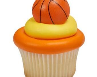 12 Basketball Cupcake Rings - NBA College Sports NCAA SEC