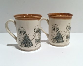 Two Bilton Herding Dog Mugs