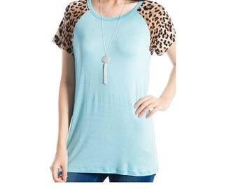 S M L ~ Mint Leopard Print Tunic