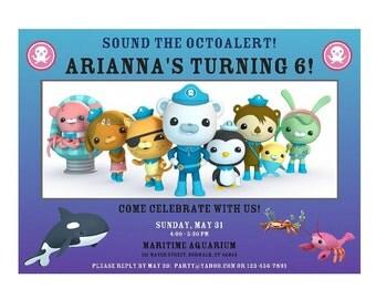 Octonauts Birthday Invitation - Octonauts Birthday Invite - DIGITAL FILE for Octonauts Party