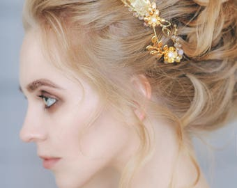 Wedding Hair Vine, Bridal Hair Wreath, Headband, Bridal hairpiece