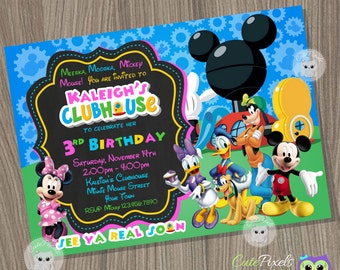 Minnie Mouse Invitation, Mickey Mouse Clubhouse Invitation, Minnie Mouse Birthday, Minnie Mouse, Clubhouse, Minnie Party