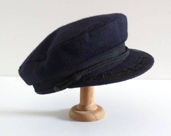 French Vintage Sailor Cap from Normandy, Port-en-Bessin, 1950s