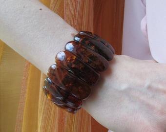 Massive Baltic Amber Butterscotch Bracelet 41,3 gram Natural Amber Jewelry Massive Elegant Dark Amber Bracelet
