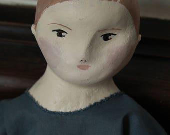 "Doll, fabric, retro, vintage, ""Léonce""."