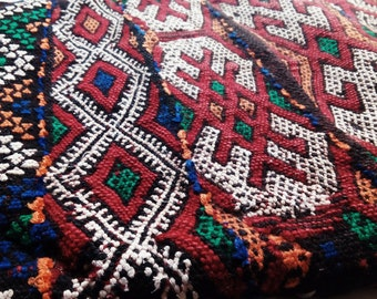Traditional moroccan kilim cushion cover, african ethnic berber cushion