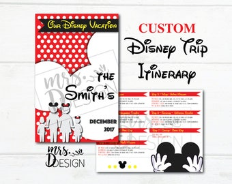 Disney Trip Itinerary Plans Brochure - Custom Plans and Design for your vacation