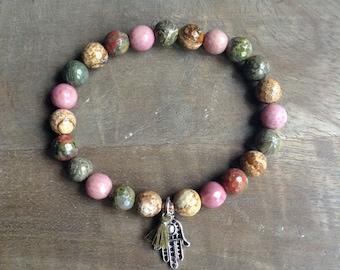 Bohemian bracelet boho chic bracelet rustic bracelet womens jewelry hippie jewelry gemstone bracelet boho chic jewelry stackable bracelet