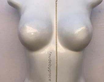 15% off sale, Body Chain, gold body chain, bikini body jewelry, simple body chain, bralette chain, harness body chain, body jewelry